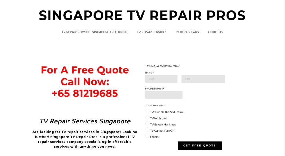 Singapore TV Repair Pros